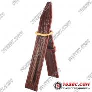 №01 Командирский кожаный ремешок со строчкой «бордовый» желтая застежка