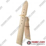 Кожаный ремешок бежевого цвета Bandco HB-21434-GL