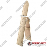 Кожаный ремешок бежевого цвета Bandco HB-21434