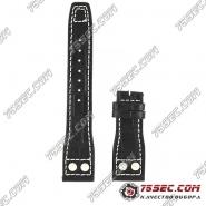 Кожаный ремешок IWC Big Pilot's черный с тиснением аллигатор