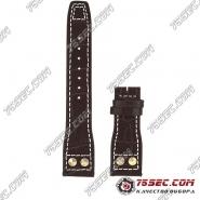 Кожаный ремешок IWC Big Pilot's темно-коричневый с тиснением аллигатор