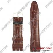 Ремешок из кожи Swatch коричневый