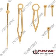 Стрелки для механизма ETA (ЭТА) 7750 желтое золото