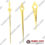 №01 Стрелки на механизм 2035 «желтое золото» (5 комплектов)