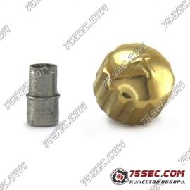 Переводная головка Tissot золотого цвета футер с внутренней резьбой.