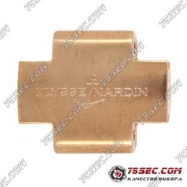 Вставка в ремешок для Ulysse Nardin цвет красное золото.